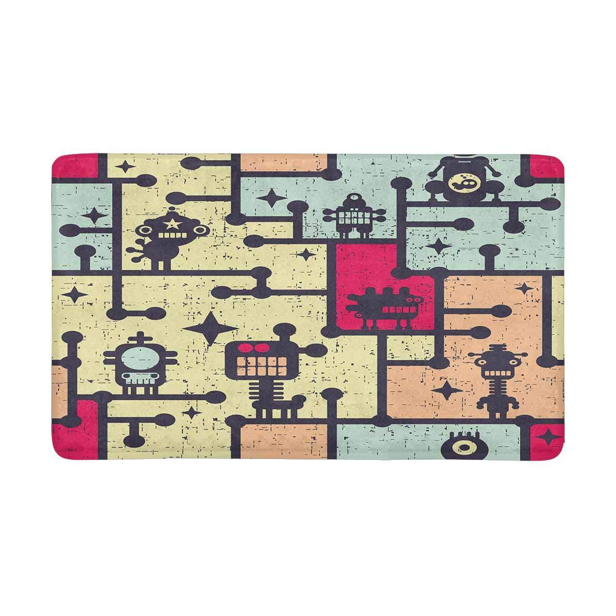 Pop Robot And Monsters Colorful Doormat Non Slip Indoor And Outdoor Door Mat Rug Home Decor Entrance Rug Floor Mats 30x18 Inches Walmart Canada