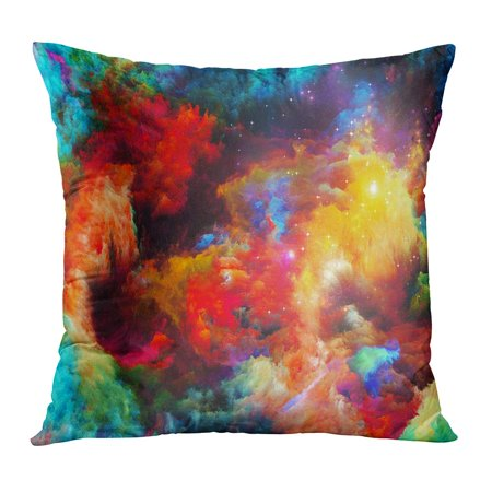 BOSDECO Dreamscape Series Interplay of Colorful Fractal Paint and Lights Subject Abstraction and Creativity Pillow Case Pillow Cover 16x16 inch - image 1 de 1