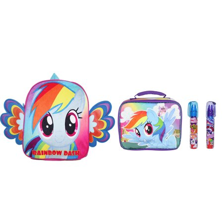 New My Little Pony Backpack with Lunch Case and Bonus Erase 2Day-Shipping - My Little Pony Backpacks