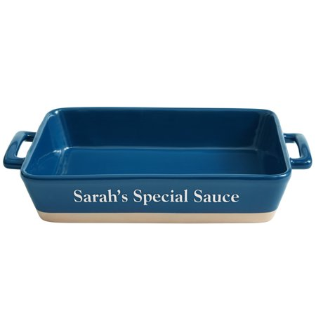 Personalized Rectangular Lasagna Baking Dish-Available in Blue or Red - Personalized Baking Gifts
