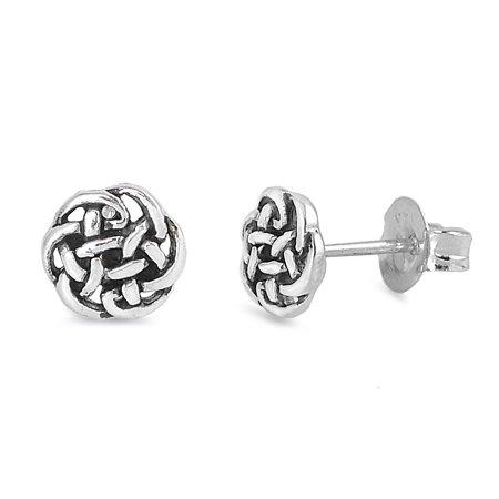 Silver Celtic Earring - Sterling Silver Celtic Knot Stud Earrings - 5mm