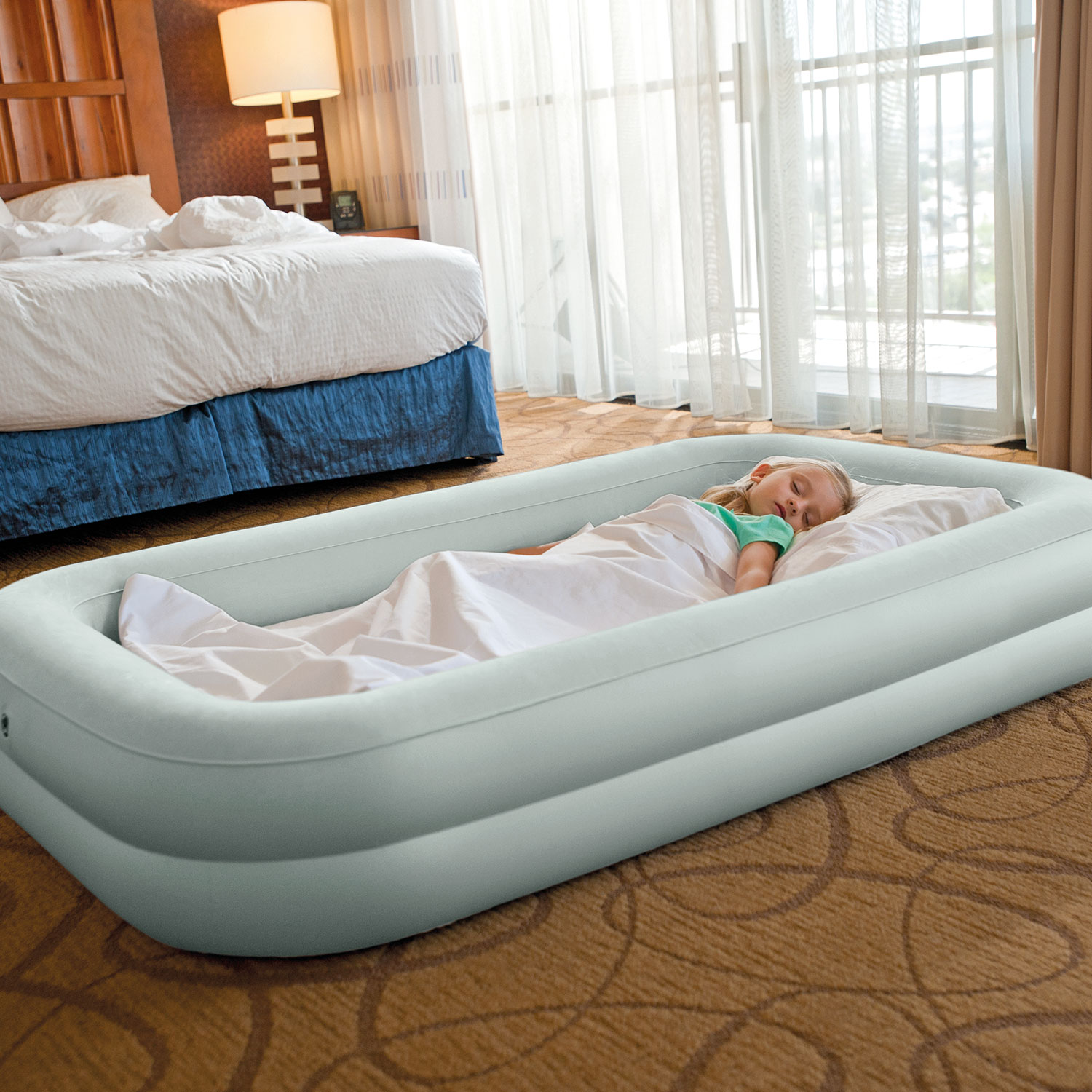 """Intex Kidz Inflatable Travel Airbed with Hand Pump, 42"""" x 66"""" x 10"""""""