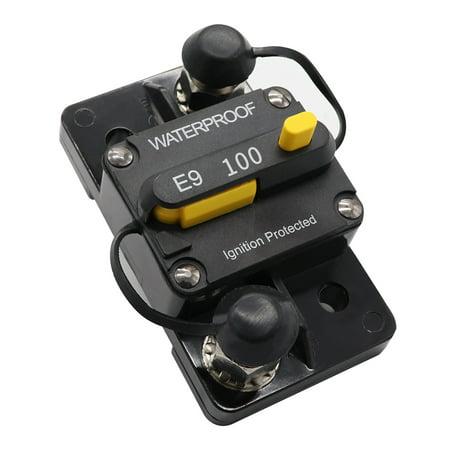 Manual Reset Johnson Controls - 100A Circuit Breaker Dual Battery Manual Reset IP67 Waterproof 12V 24V Fuse