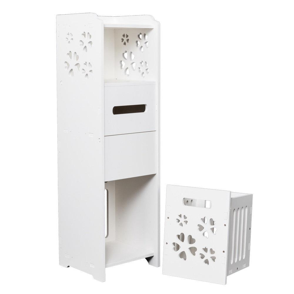 Ktaxon Slim Bathroom Storage Cabinet Toilet Floor Standing Narrow Cupboard Shelf White Walmart Com Walmart Com