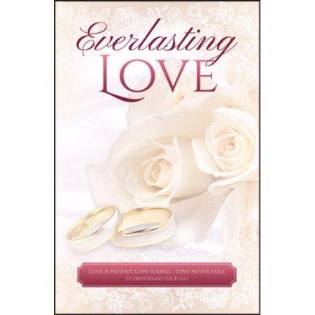 Bulletin-Everlasting Love (Wedding) (1 Corinthians 13:48) (Pack Of 100)](Wedding Bulletins)