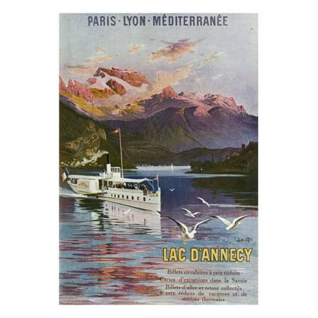 Haute-Savoie, France - Lake Annecy, Paris, Lyon, and La Mediterranee Railway, c.1920 Print Wall Art By Lantern Press - Halloween Lyon France