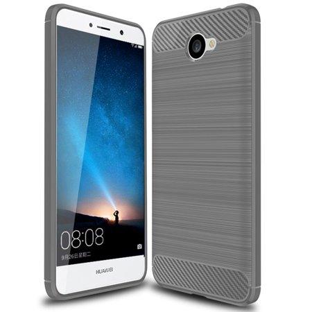Huawei Ascend XT 2 Case, Huawei Elate 4G LTE Case, Carbon Fiber Shock  Resistant Brush Texture Soft TPU Phone case Anti-fingerprint Flexible  Protective
