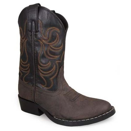 Cowboy Brown Boots (Smoky Mountain Kids Monterey Brown and Black Cowboy Boots)