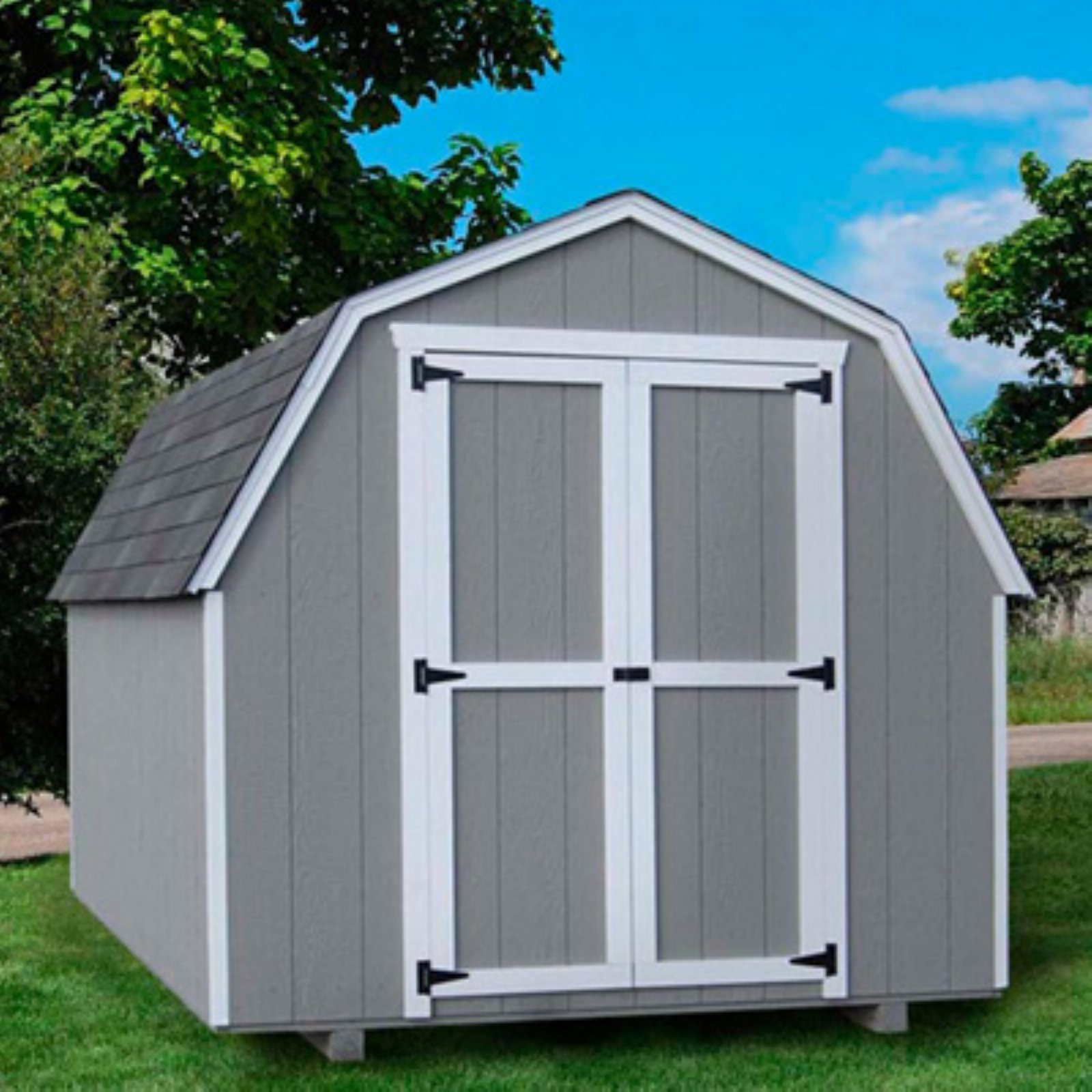 Little Cottage 12 x 10 ft. Value Gambrel Barn Precut Storage Shed - 4 ft. Barn