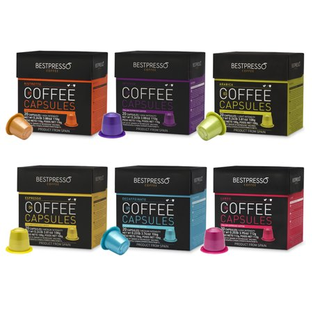 Best Bestpresso Premium Nespresso Coffee Pods, Variety Pack, 120 Count deal