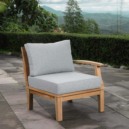 Modway Marina Outdoor Patio Teak Right-Facing Sofa, Multiple Colors ()