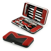 10 piece Manicure Pedicure Set Nail Clippers Cuticle Beauty Care Grooming Kit with Case