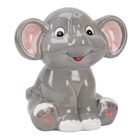 Ceramic Baseball Bank (Grey Elephant Bank 5.5