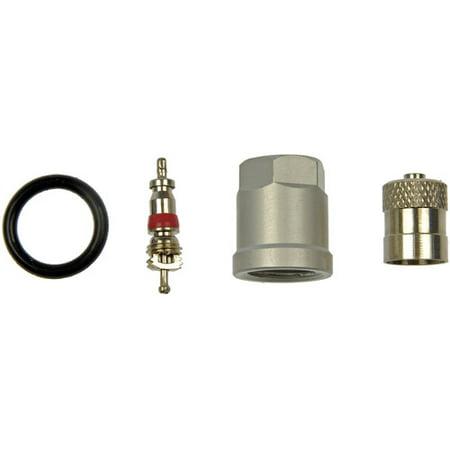 Valve Core Caps - Dorman 609-115 TPMS Service Kit, Repl Grommet, Valve Core and Cap