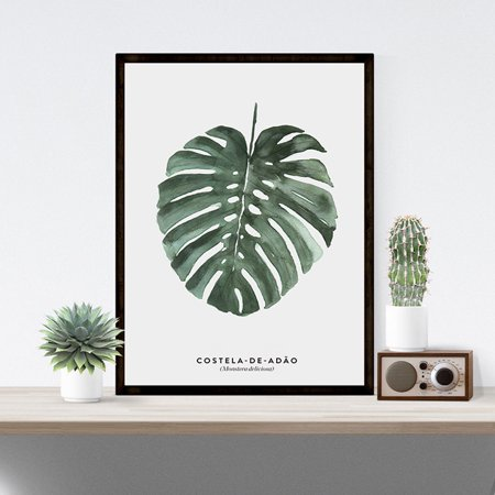 Elegant Green Plant Printing Stylish Picture Home Hotel Decoration Gift (without Frame) Specification:H-8 Size:30x40cm Elegance Green Plate
