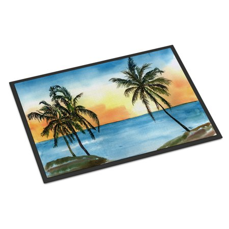 Palm Tree Scene (Palm Tree Scene Door Mat)