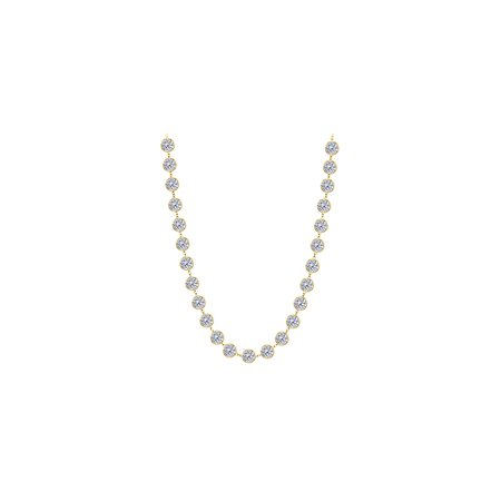 Thirty One CZ Stations Necklace - image 2 de 2