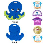 Silli Chews Baby Teether Natural Silicone Teething Toy Ollie Octopus Blue Teether |Best Baby Teether | Unisex Teething Toy | Cute Holiday Christmas Stocking Stuffer Idea