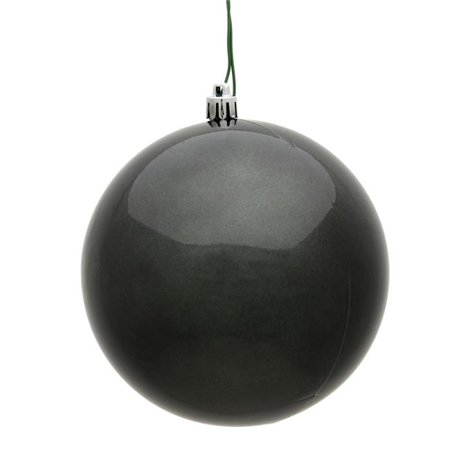 Vickerman N590887DCV 3 in. Pewter Candy UV Treated Christmas Ornament Ball - 12 per Bag - image 1 of 1