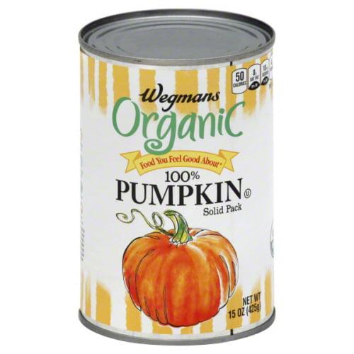 Wegmans Organic Food You Feel Good About 100% Pumpkin, Solid Pack 15 oz.