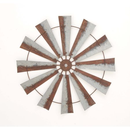 Rustic metal farm country windmill wall art barn decor