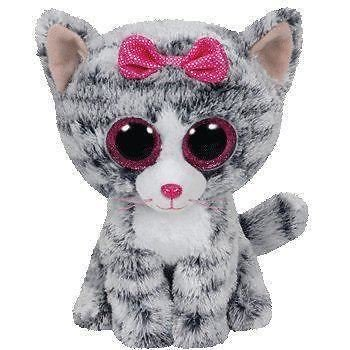 TY Beanie Boo Plush - Kiki the Cat 15cm - Walmart.com fd73dc62a