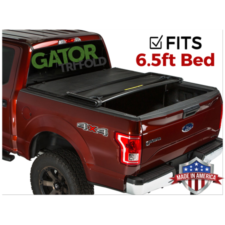 Ford F-150 Bed Caps (Gator ETX Tri-Fold (fits) 2009-2014 Ford F150 6.5 FT Bed Only Tonneau Truck Bed Cover Made in the USA 59302)