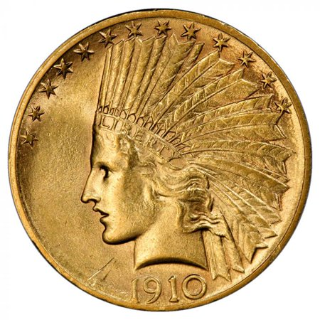 $10 Indian Eagle Gold Coin (VF+) - Random Year (Indian Gold Coin)