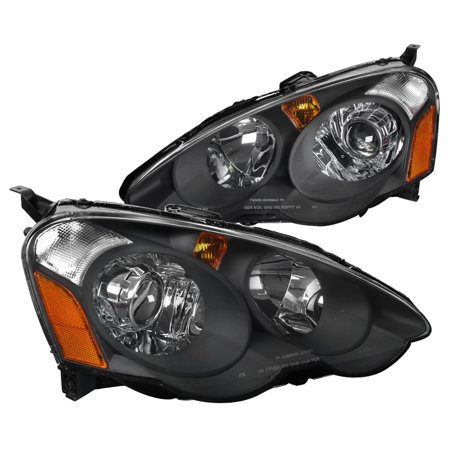 Spec-D Tuning For 2002-2004 Acura Rsx Black Housing Clear Lens Retro Style Projector Headlights (Left+Right) 2002 2003