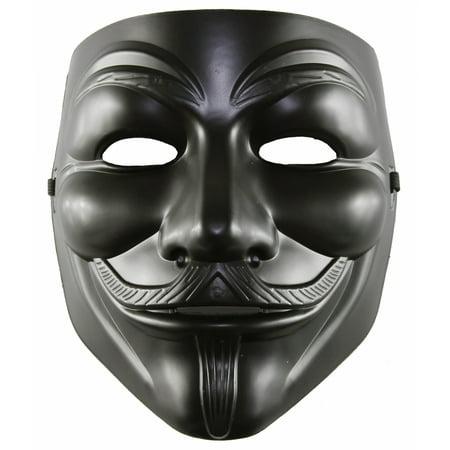 Fawkes Mask (KAYSO INC AZ002MBK BLACK V FOR VENDETTA GUY FAWKES PLASTIC COSTUME)