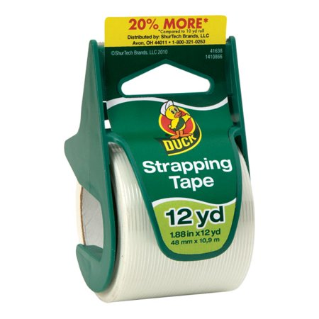 Duck Brand Standard Strapping Tape: 1.88 in. x 12 yds. (White)