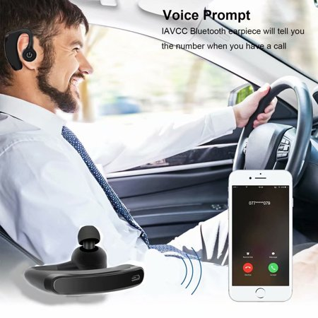 Bluetooth Headset Wireless Handsfree Office Bluetooth Earphones Headphones with Mic Voice Control Noise For Driving Work Business