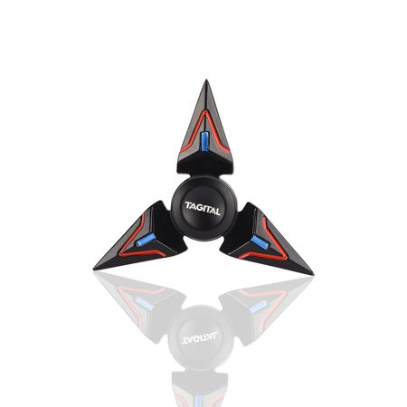 Triangle Clutching Toy - Tagital Brass EDC Triangle Fidget Spinner Toys High Speed Hand Finger Multicolor Tri-Spinner for Killing Time Focus Anxiety Stress Relief
