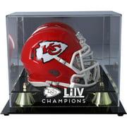 Kansas City Chiefs Super Bowl LIV Champions Golden Classic Mini Helmet Logo Display Case