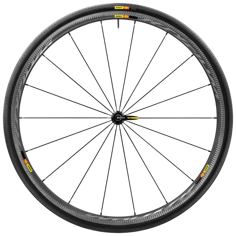 Mavic, Ksyrium Pro Carbon SL WTS, Wheel, Front, 700C, 18 spokes, QR, Tire included