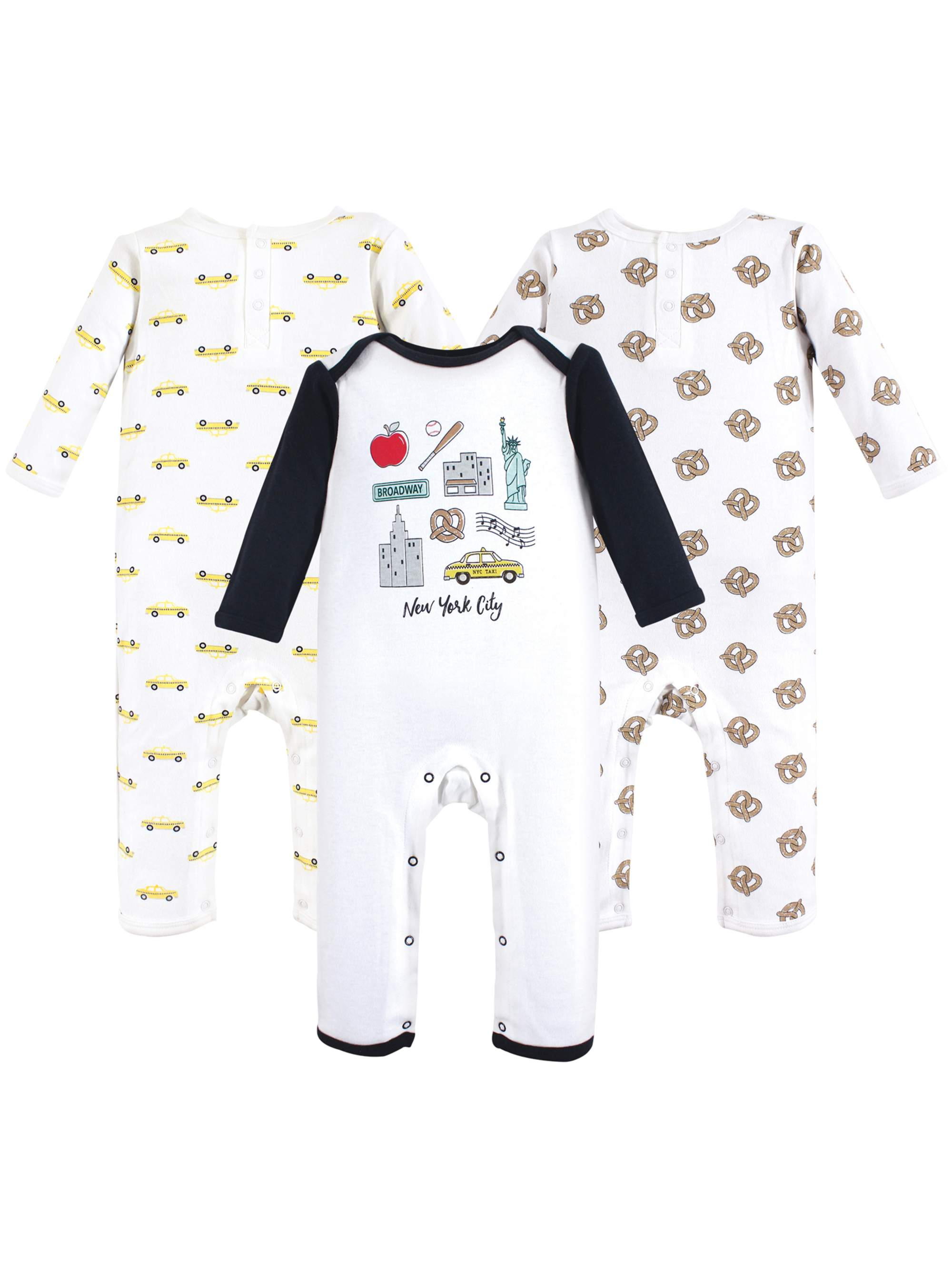 Union Suit / Coveralls 3pk (Baby Boys)