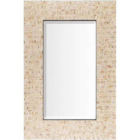 36 Quot Ivory And Tan Mother Of Pearl Framed Beveled