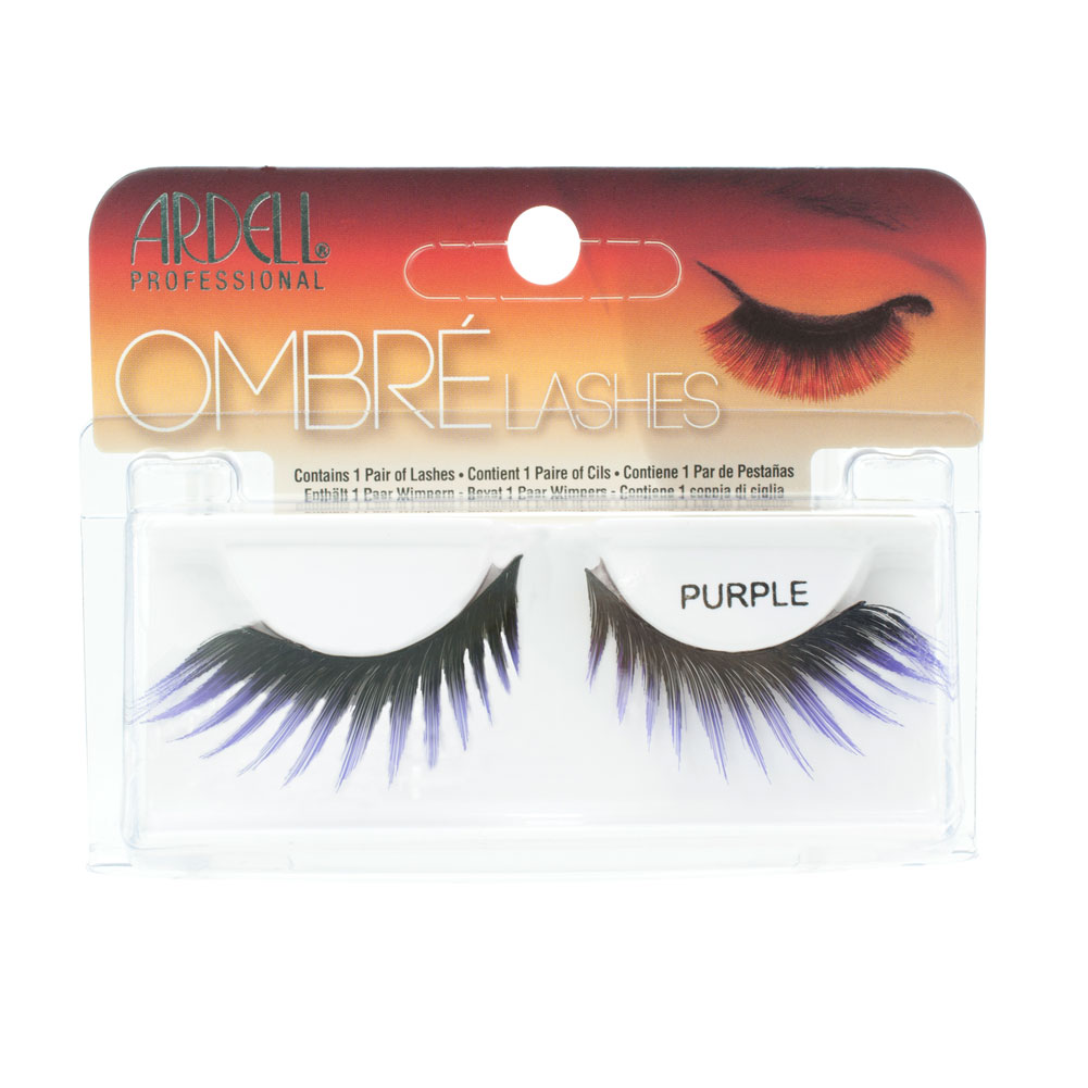 Ardell Professional Ombre Lashes 1 Pair, PURPLE, 61543