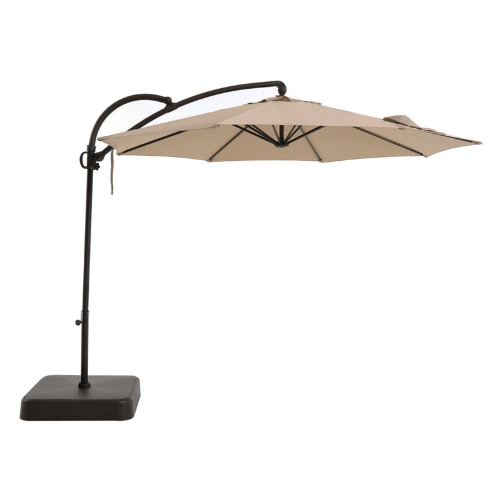 royal garden 10 ft. aluminum offset patio umbrella with sand Base for 10 Ft Umbrella
