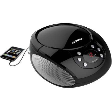sylvania srcd261 b portable cd player with am fm radio. Black Bedroom Furniture Sets. Home Design Ideas