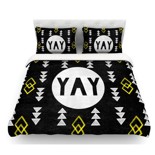 East Urban Home Yay by Skye Zambrana Featherweight Duvet Cover