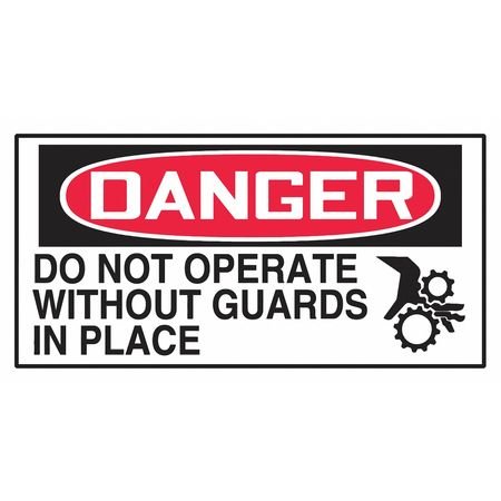 Danger Label,1-1/2in H,3in W,PK10 ACCUFORM LEQM003VSP