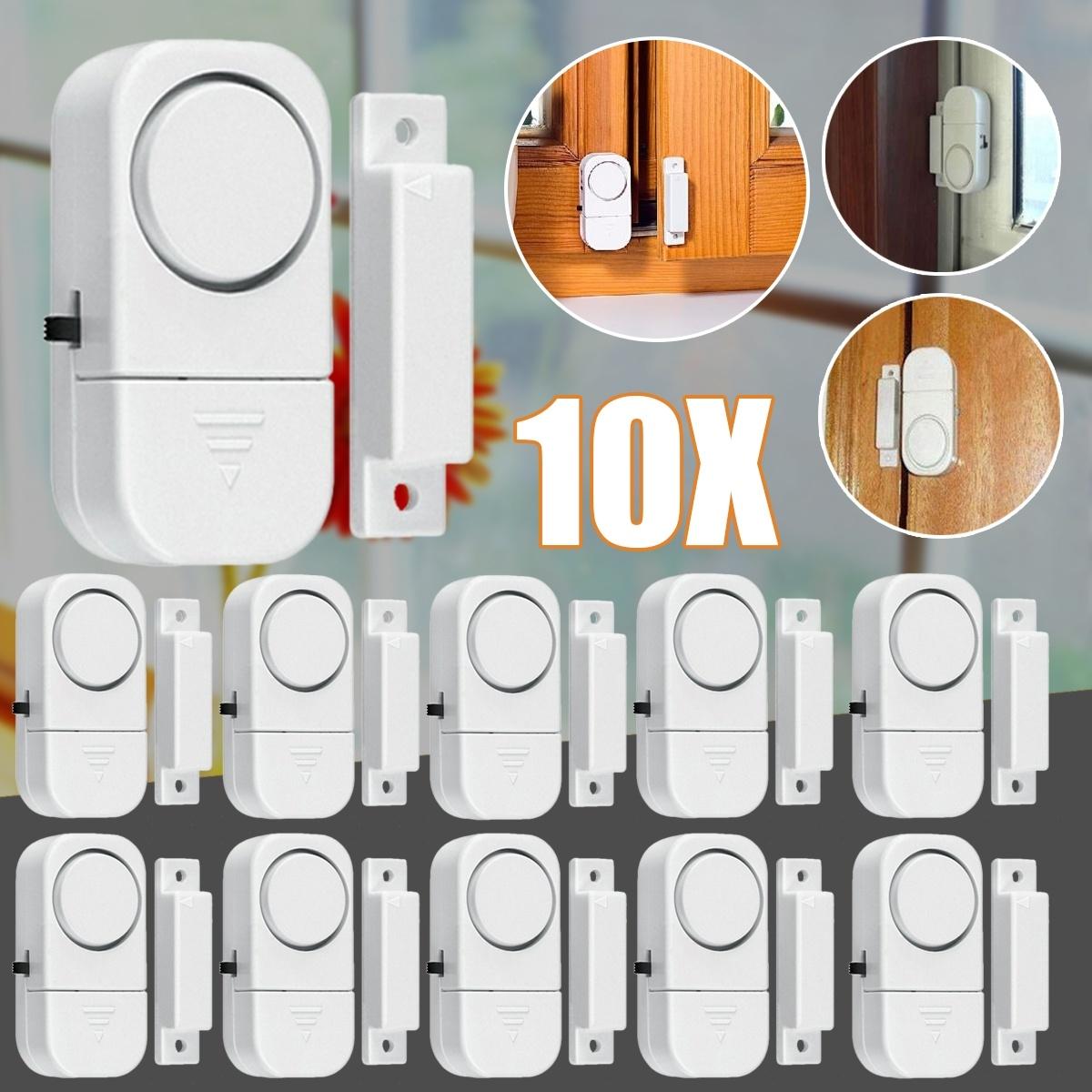 10 Pack Wireless Home Door Window Entry Burglar Security Alarm Magnetic Sensor