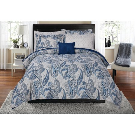 Mainstays Distressed Paisley Bed in a Bag Coordinating Bedding Set ()