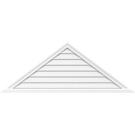 82 W x 20 1 2 H Triangle Surface Mount PVC Gable Vent 6 12 Pitch Non