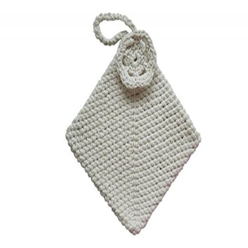 Toockies Square Joy Pot Holder W/double layer of knit for heat/cold protection