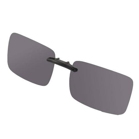 Woman Man Plastic Rimless Lens Clip On Polarized Sunglasses Glasses Dark (How To Make Polarized Glasses At Home)