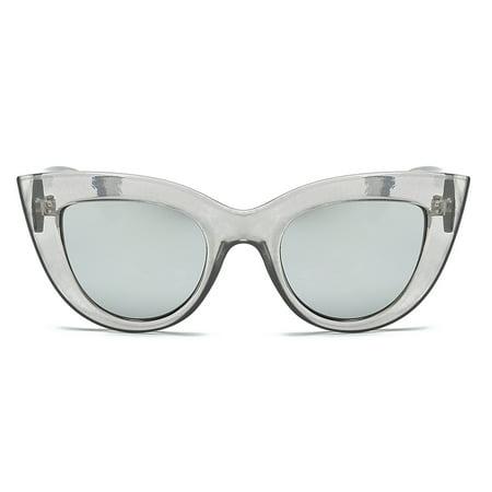 ZEDWELL Vintage Sunglasses Women Cat Eye Sunglass Retro Fashion Brand Designer Sun Glasses Female Pink Mirror Eyewear (Cool Eyewear Brands)