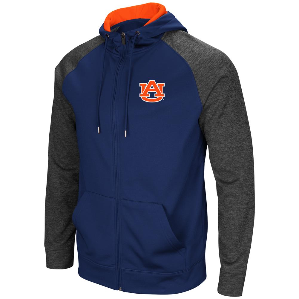 Auburn University Tigers Men's Full ZipHoodie Fleece Jacket by Colosseum