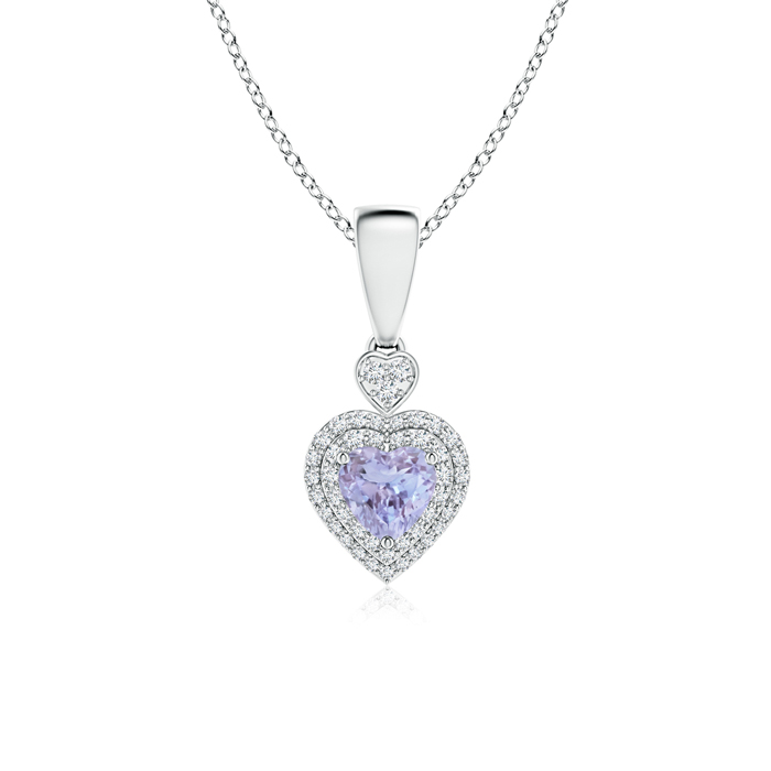 Angara Heart Tanzanite Pendant in Platinum